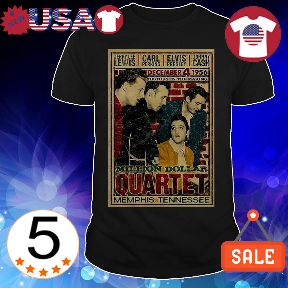 Million Dollar Quartet Memphis Tennessee shirt