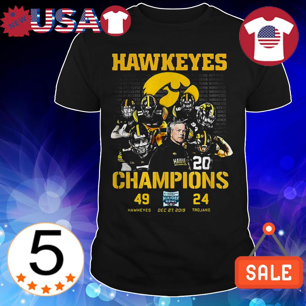 Lowa Hawkeyes vs USC Trojans Champions shirt