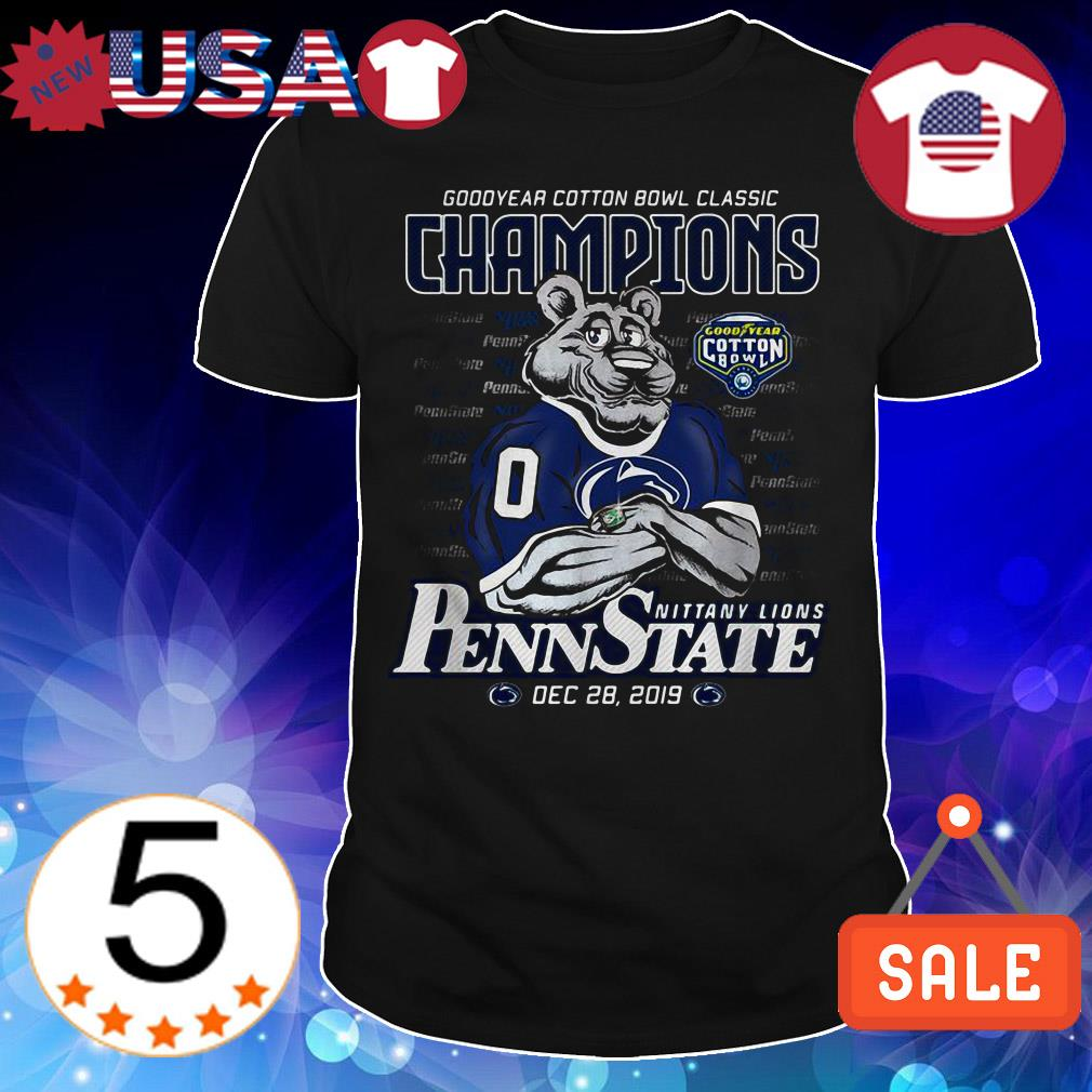 Penn State Nittany Lions Goodyear cotton bowl classic Champions shirt