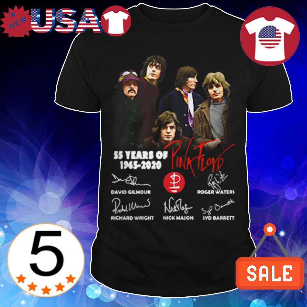 55 years of Pink Floyd 1965 2020 signatures shirt
