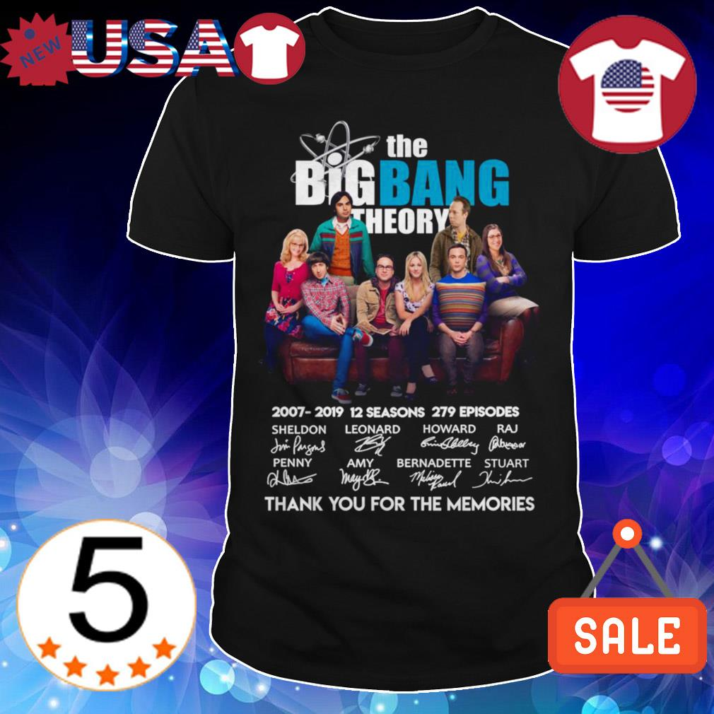 The Big Bang Theory 2007 2019 12 seasons 279 episodes thank you for the memories signatures shirt