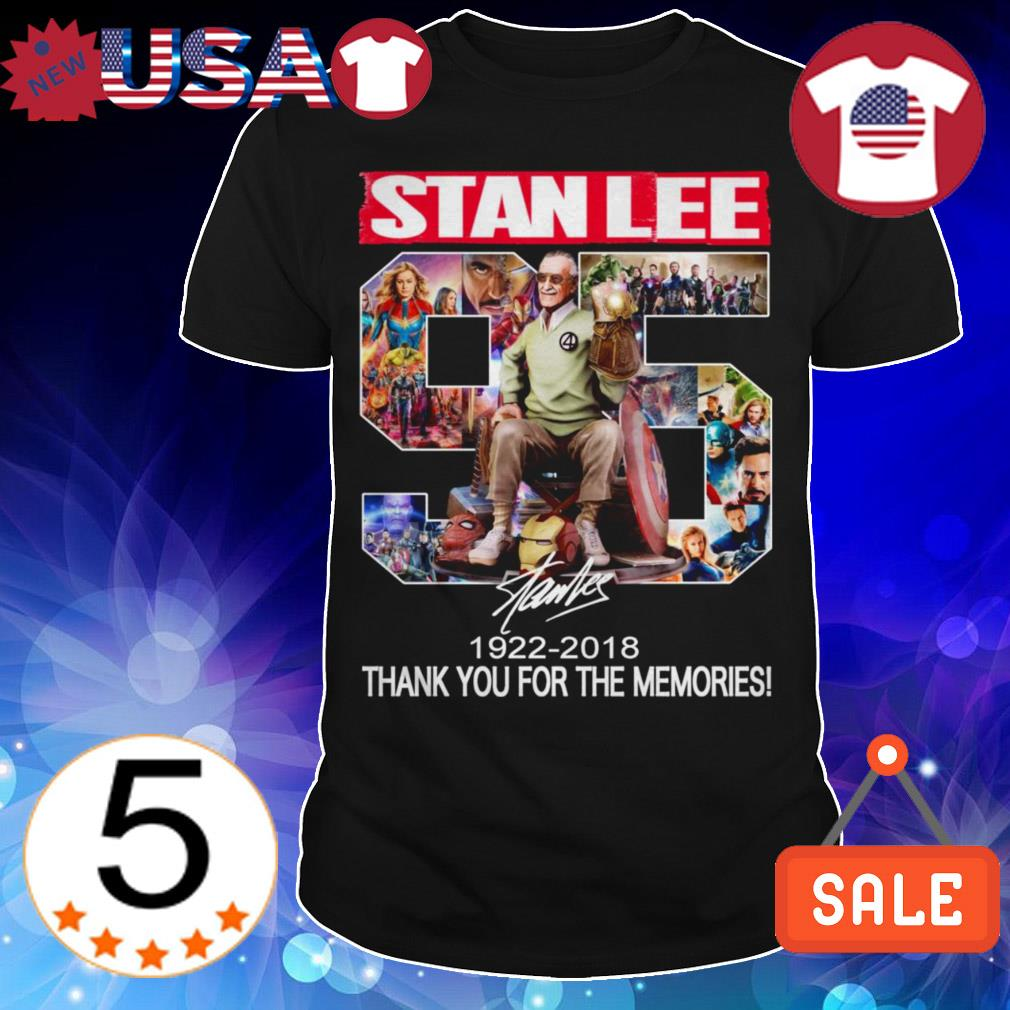 Marvel The Avengers Stan Lee 1922 2018 thank you for the memories signature shirt