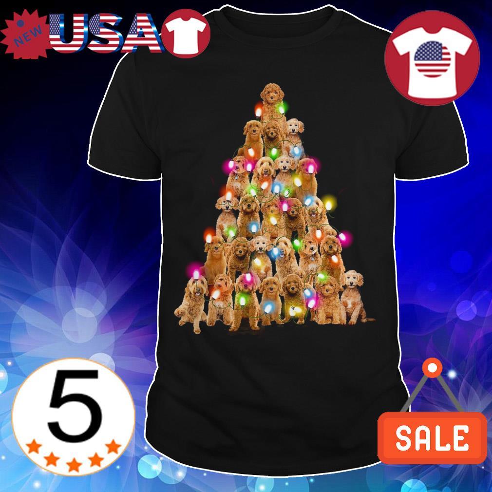 Goldendoodle paws tree Crewneck Christmas sweatshirt