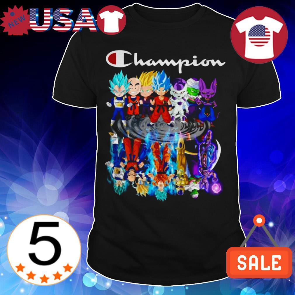 Dragon Ball chibi characters mirror reflection Champion shirt