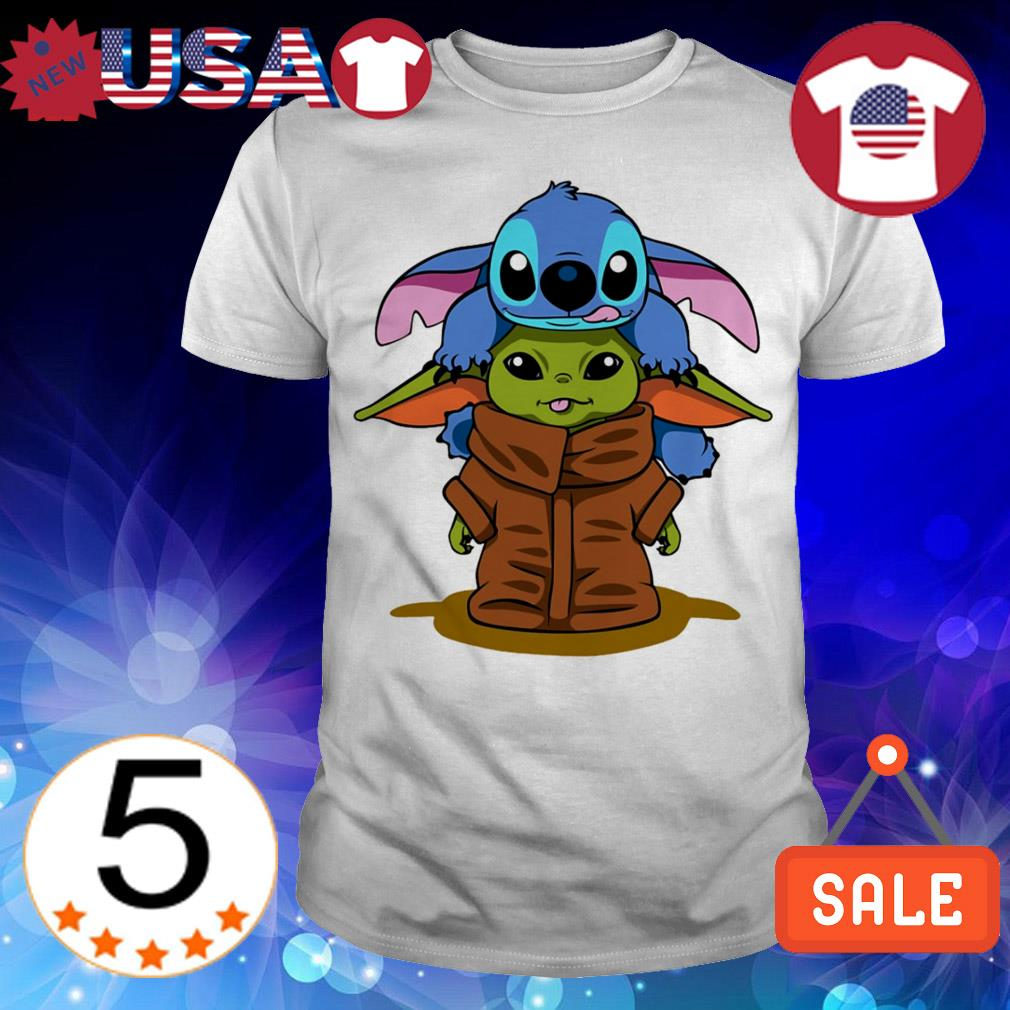 Jeep Kansas City >> Star Wars Baby Yoda and Disney Baby Stitch hugging shirt, sweater, hoodie, and ladies tee
