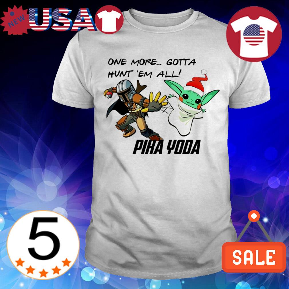 Star Wars The Mandalorian one more gotta hunt 'em all Pika Yoda Christmas sweatshirt