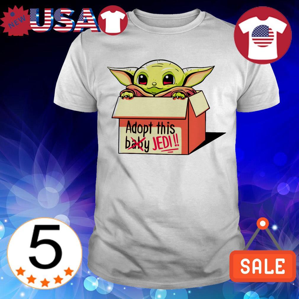 Star Wars Baby Yoda adopt this baby Jedi shirt