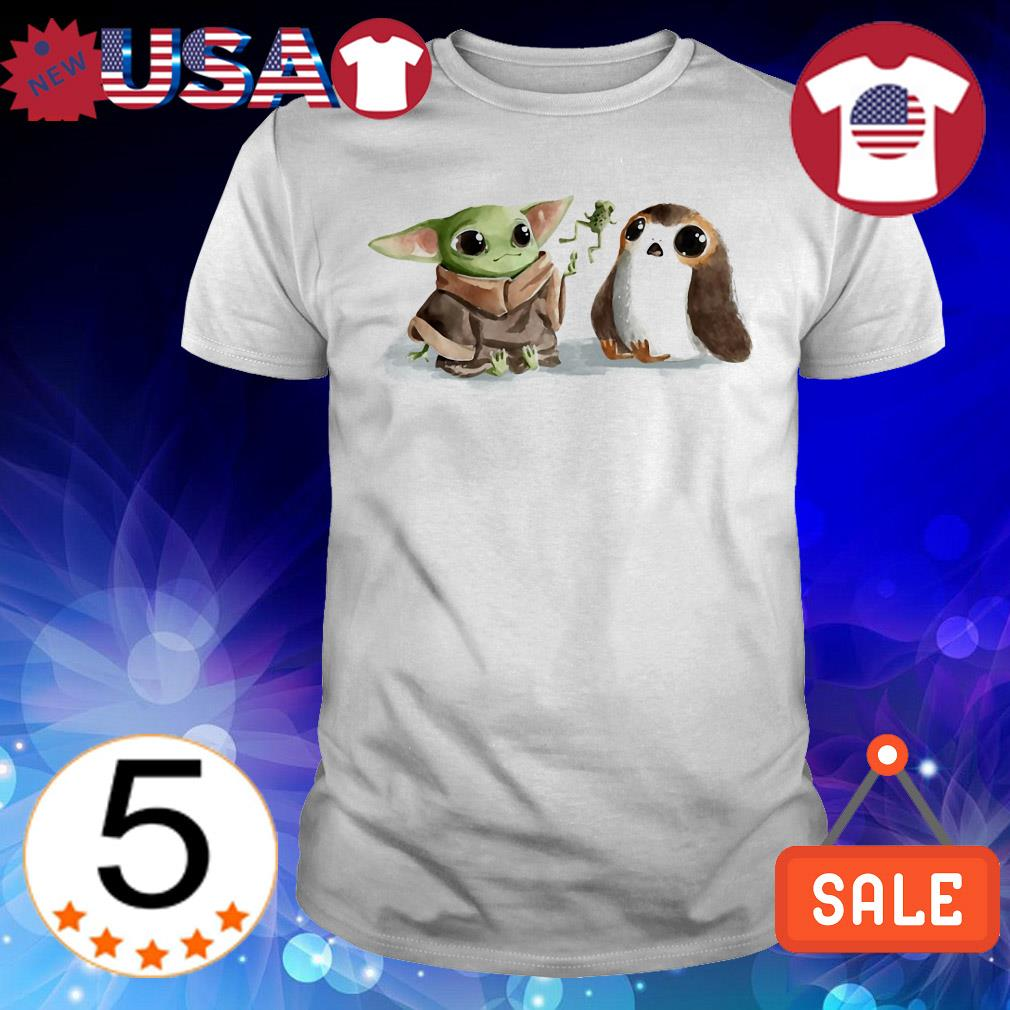 Star Wars Baby Yoda and Baby Porg shirt