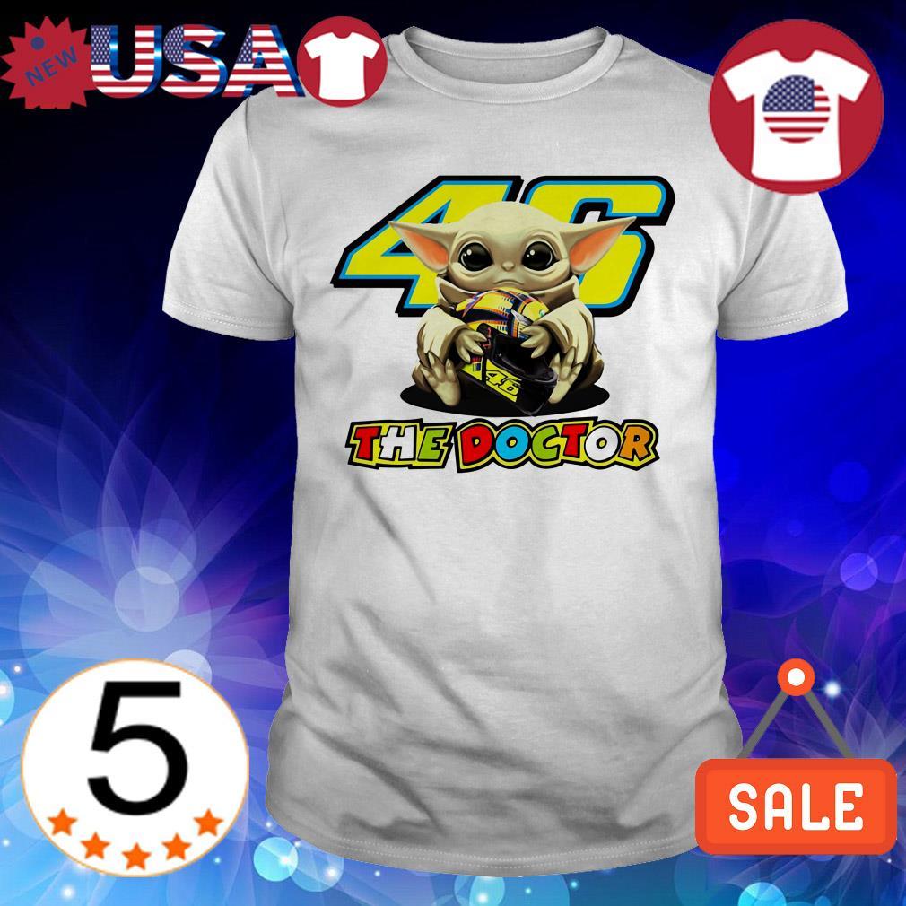 Star Wars Baby Yoda hug 46 The Doctor Valentino Rossi shirt