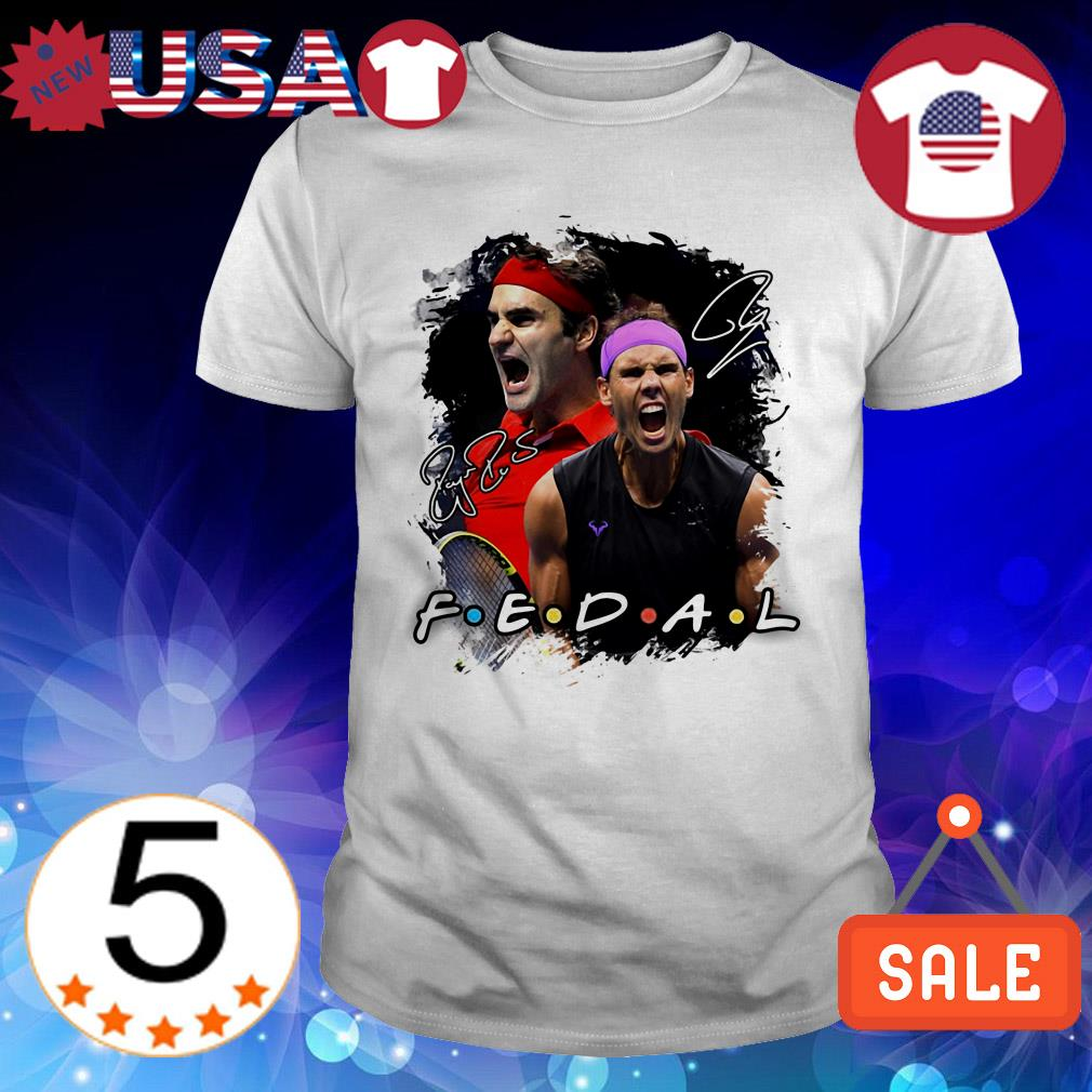 Federer vs Nadal Friends TV Show tennis signatures shirt