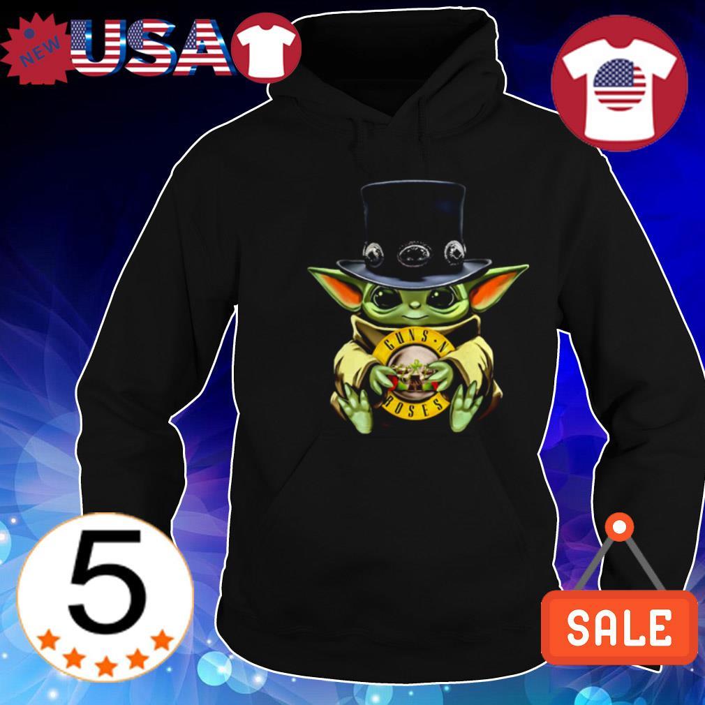 Star Wars Baby Yoda hug Guns N' Roses shirt