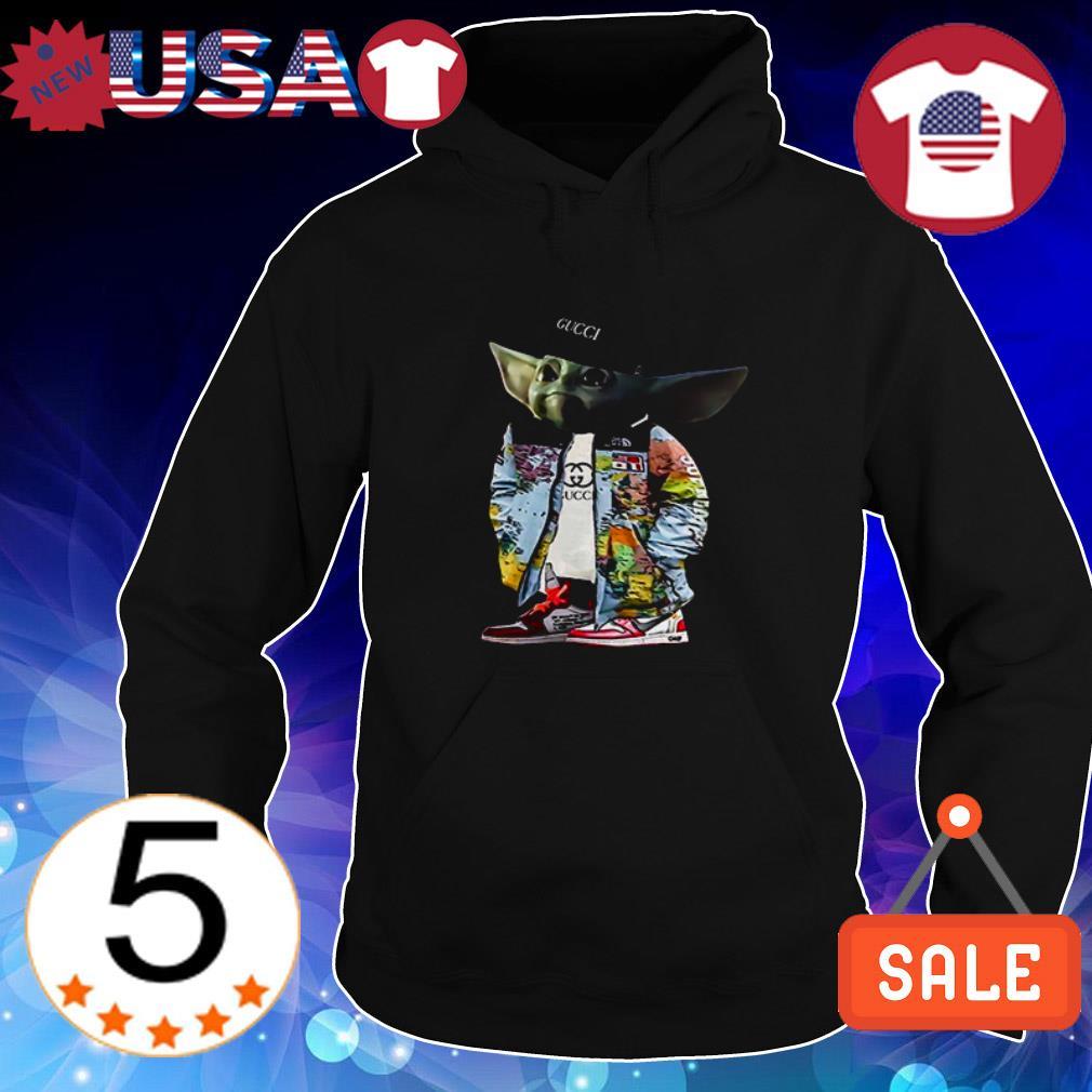 Star Wars Baby Yoda wears Gucci shirt