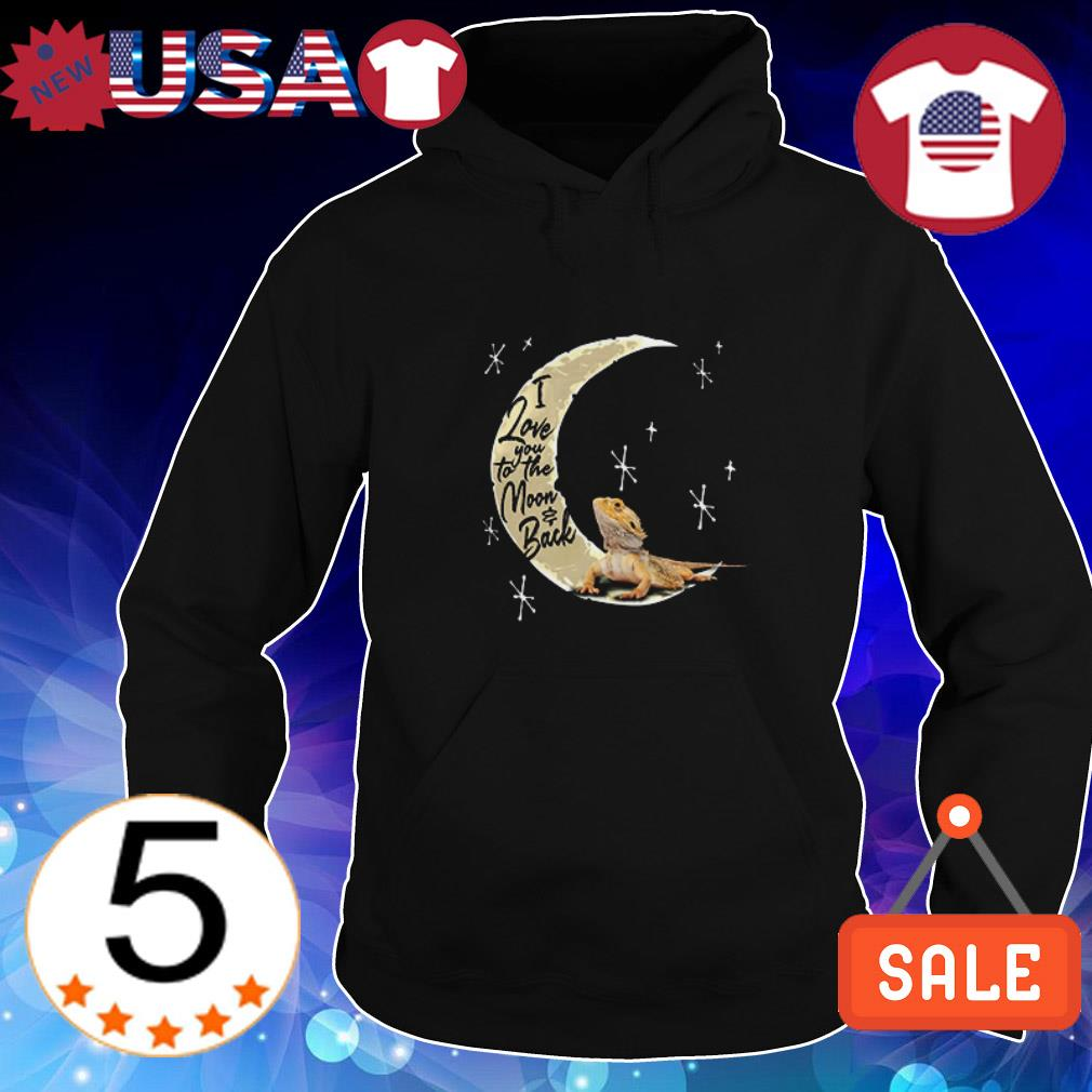 Agama Lizard i love you to the moon and back shirt