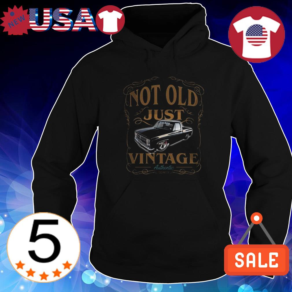 1982 chevy c10 black not old just vintage authentic shirt