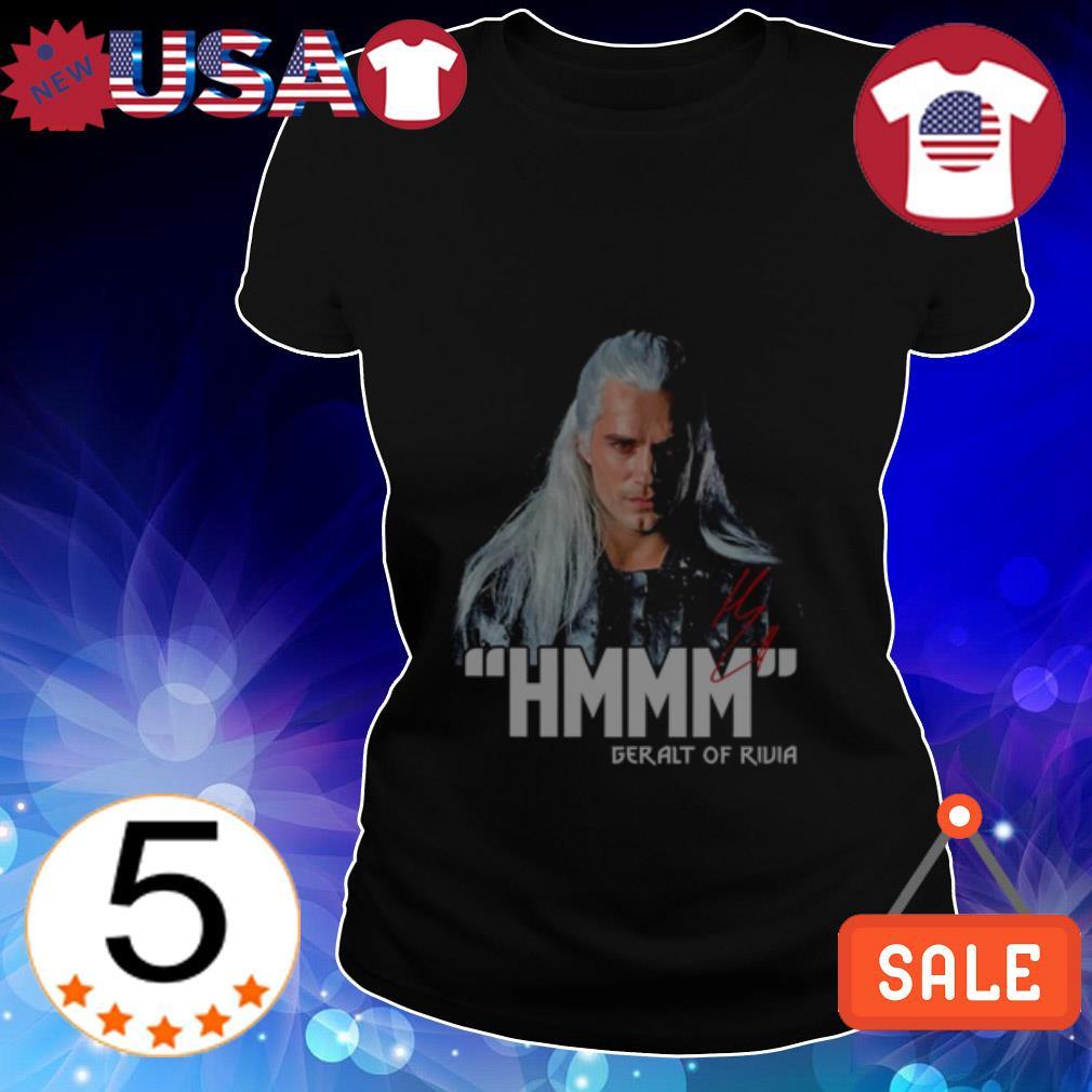The Witcher Henry Cavill Geralt Of Rivia hmmm signature shirt