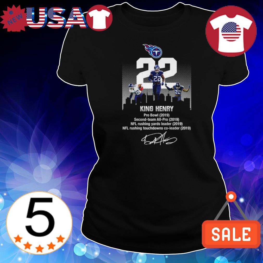 King Henry Pro Bowl Second-team All-Pro NFL rushing yards leader signature shirt