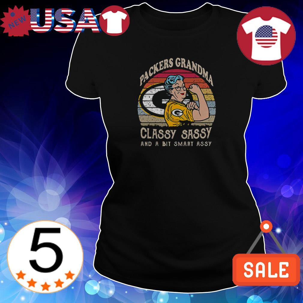 Green Bay Packers Grandma classy sassy and a bit smart asssy shirt