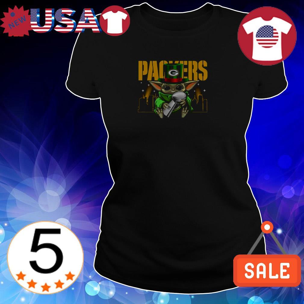 Star Wars Baby Yoda hug Green Bay Packers shirt