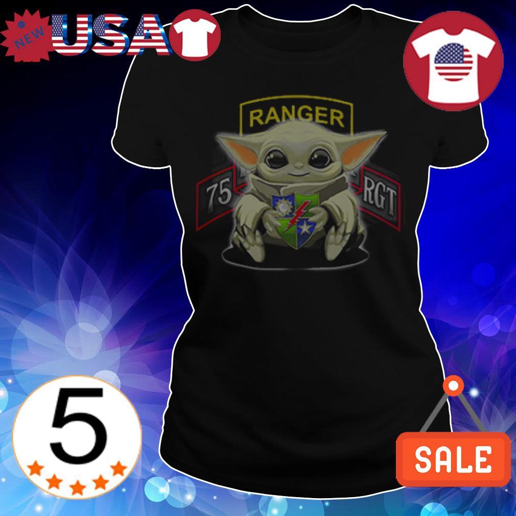 Star Wars Baby Yoda hug 75th Ranger Regiment shirt