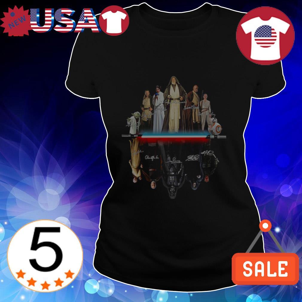 Star Wars characters mirror reflection shirt