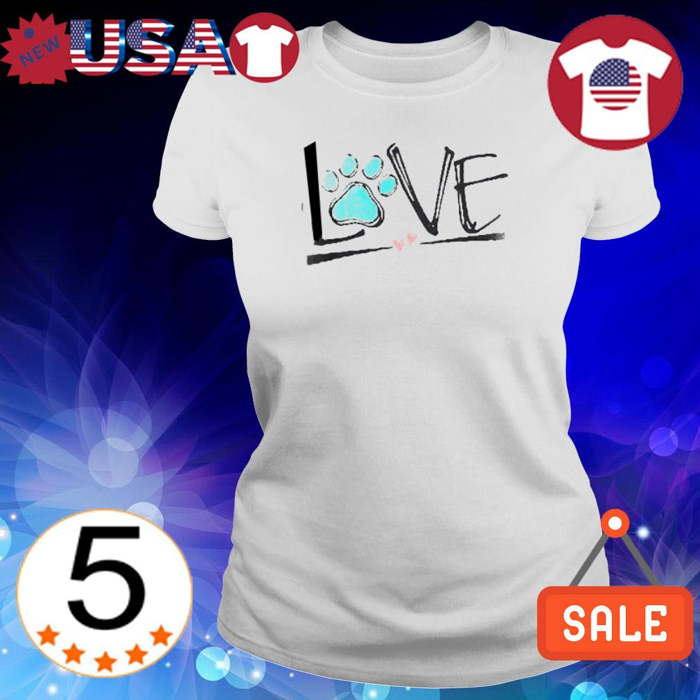 Official Dog paw love shirt