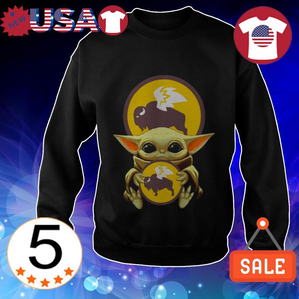 Star Wars Baby Yoda hug Buffalo Wild Wings shirt