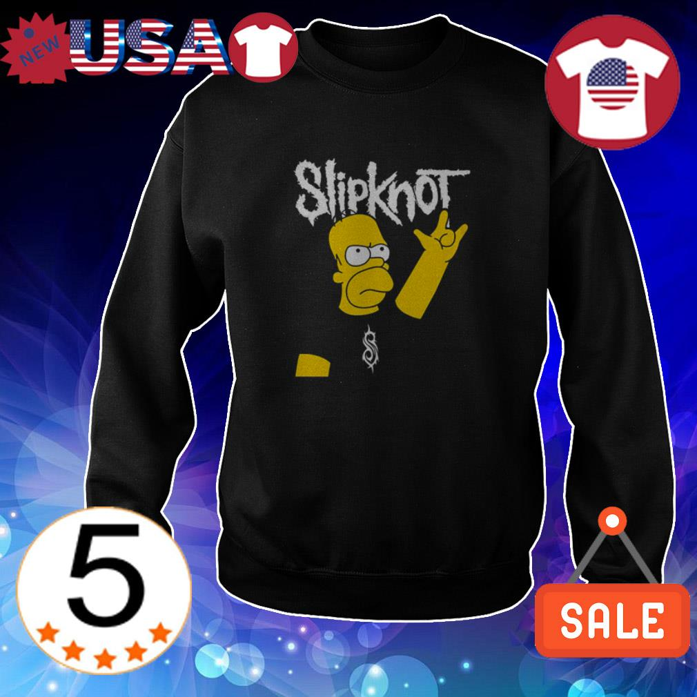 Homer Simpson Slipknot shirt