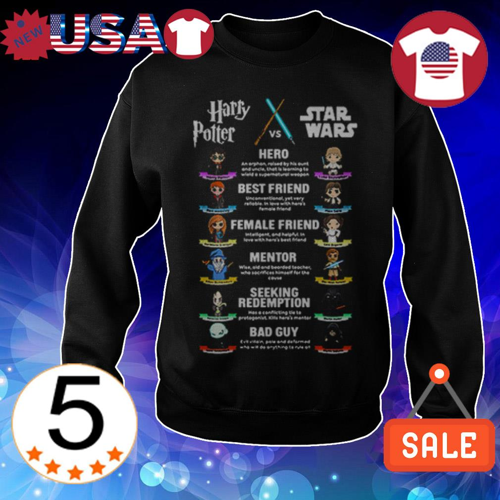Official Harry Potter vs Star Wars shirt