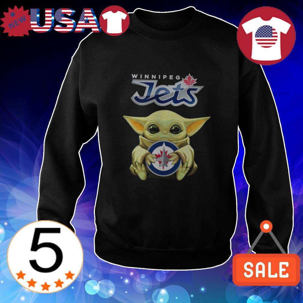 Star Wars Baby Yoda hug Winnipeg Jets shirt