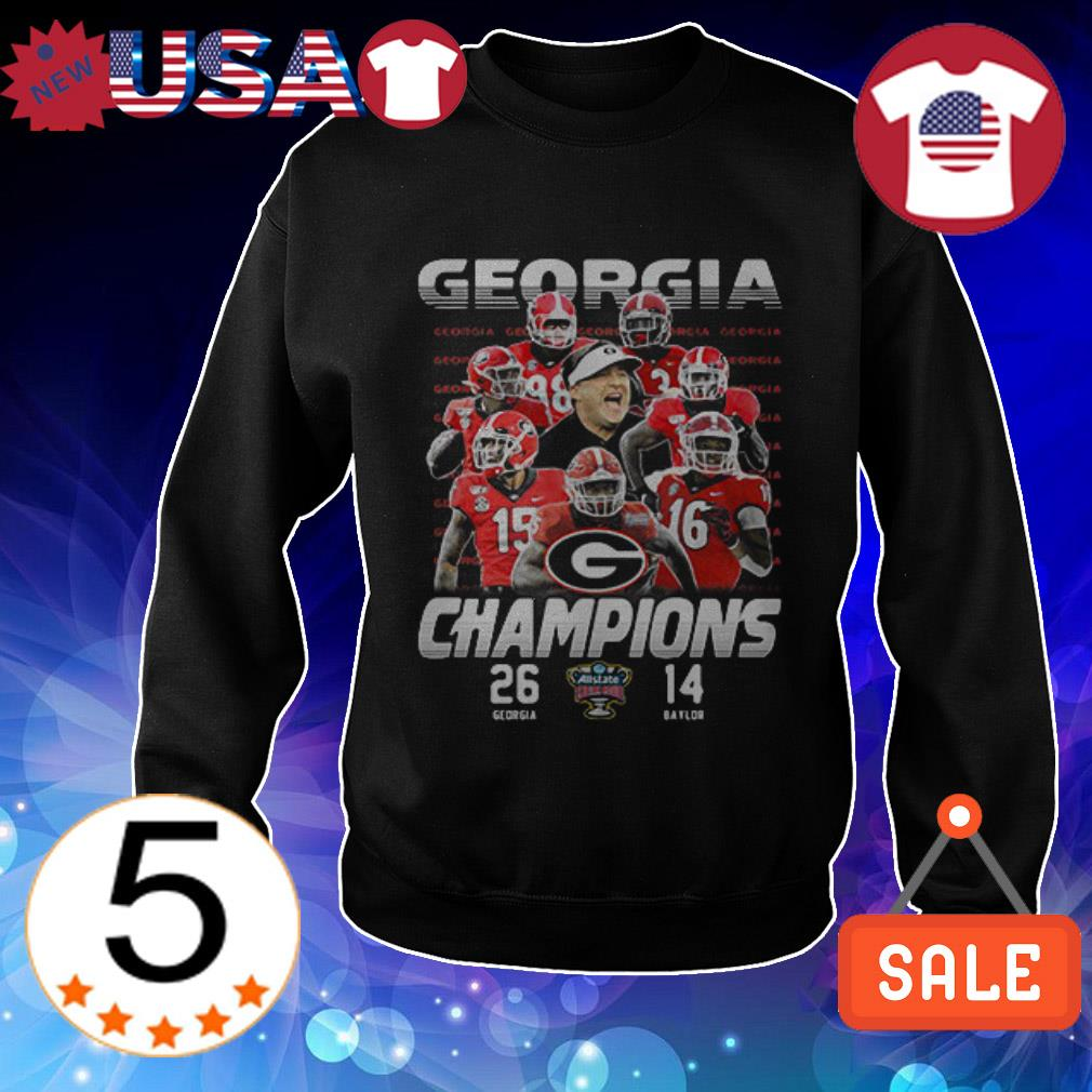 Georgia Bulldogs vs Baylor Bears Champions shirt