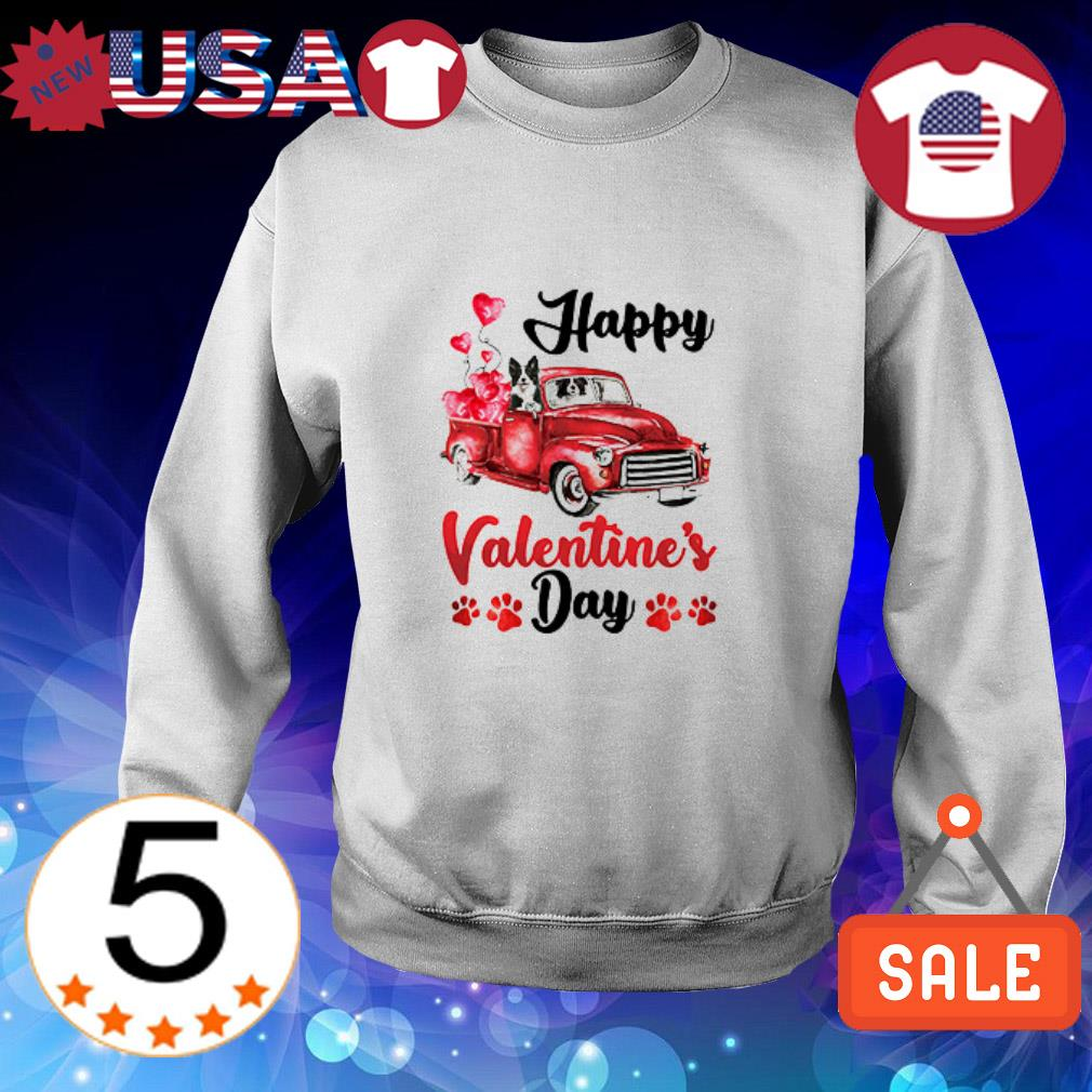Border Collie Spaniel Happy Valentine's Day shirt