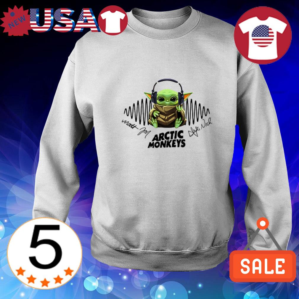 Baby Yoda hear Arctic Monkeys music signatures shirt