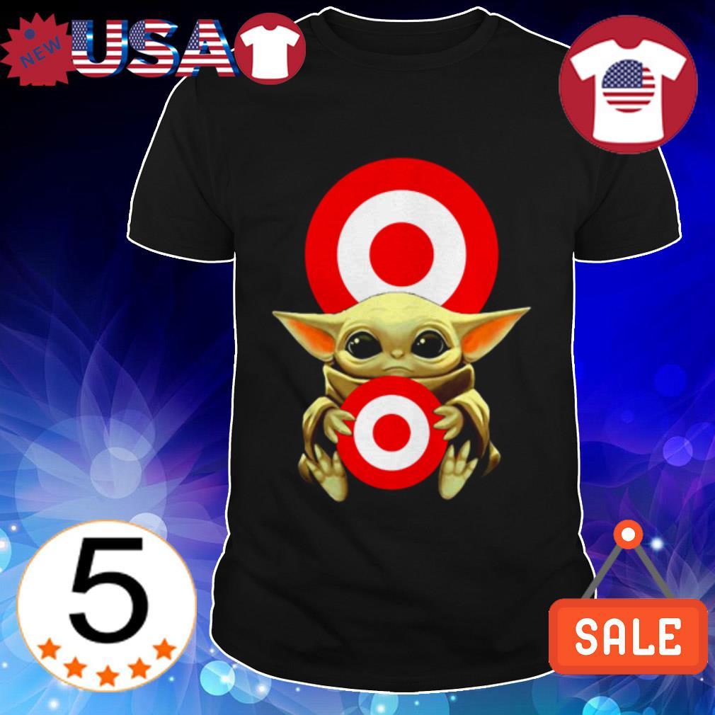 Baby Yoda hug Target Circle shirt
