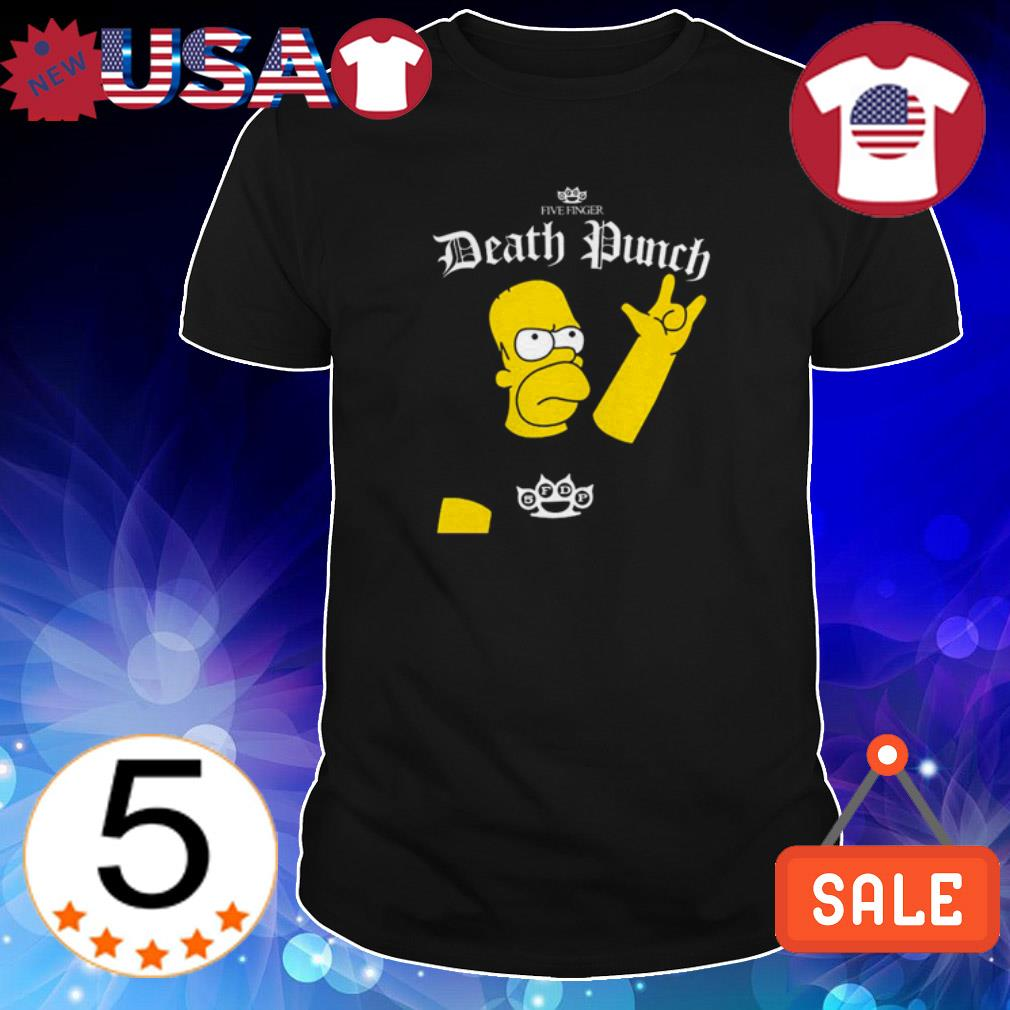 Homer Simpson Five Finger Death Punch shirt