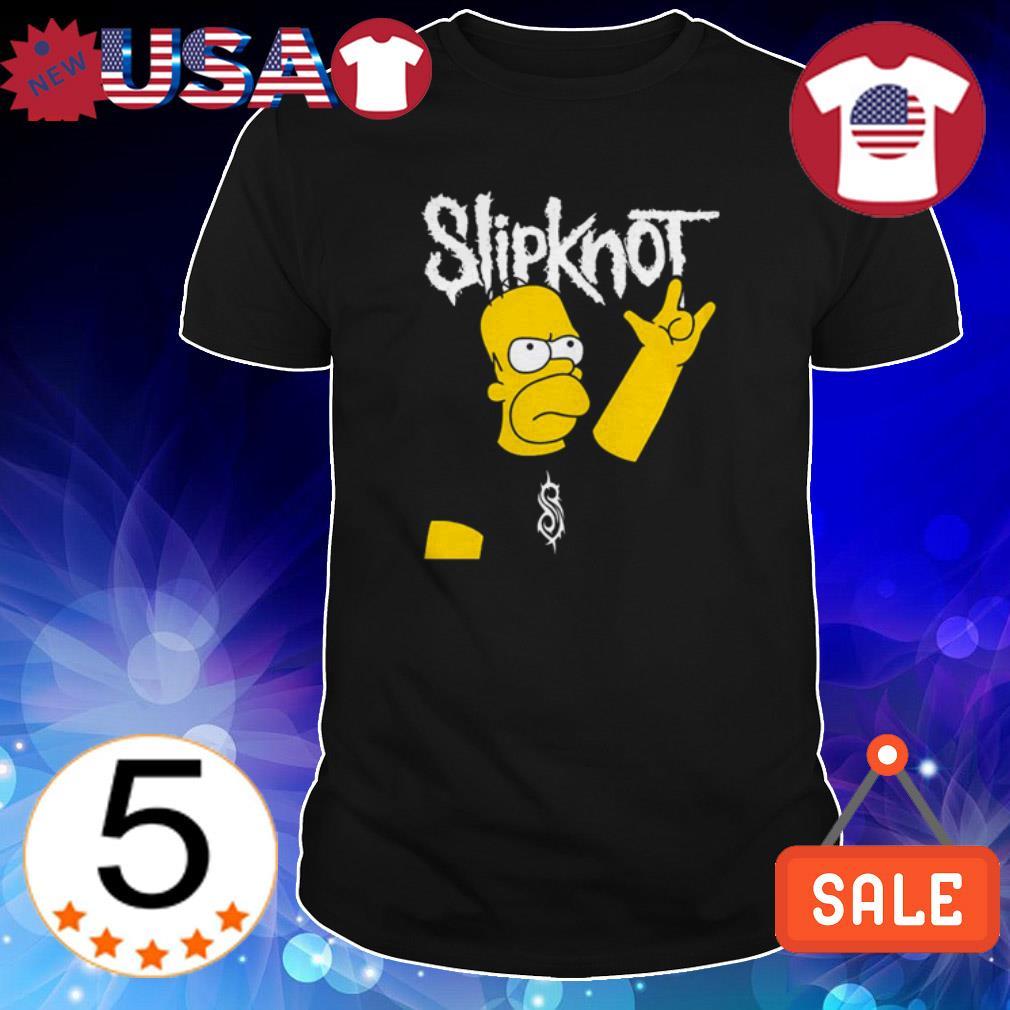 Homer Simpson Slipknot shirt