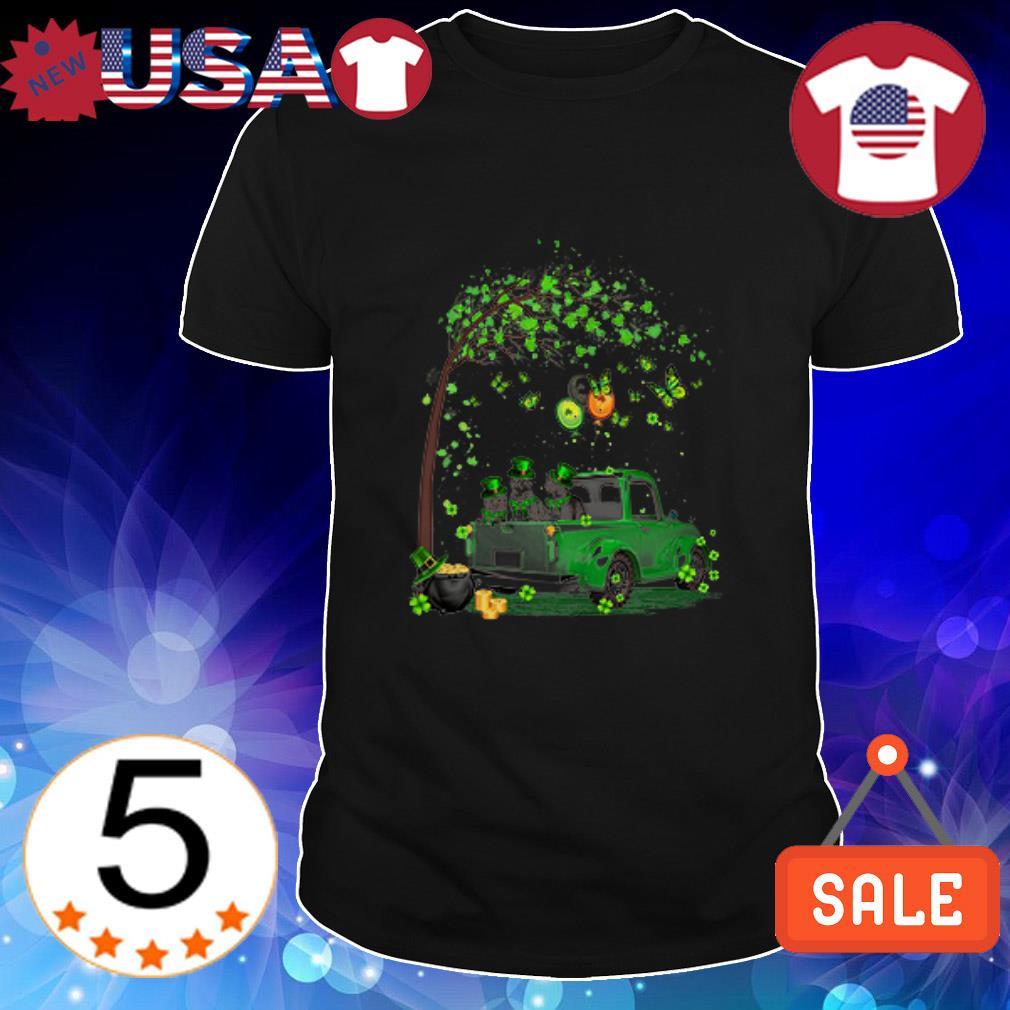 Cat Truck happy Patricks's day shirt