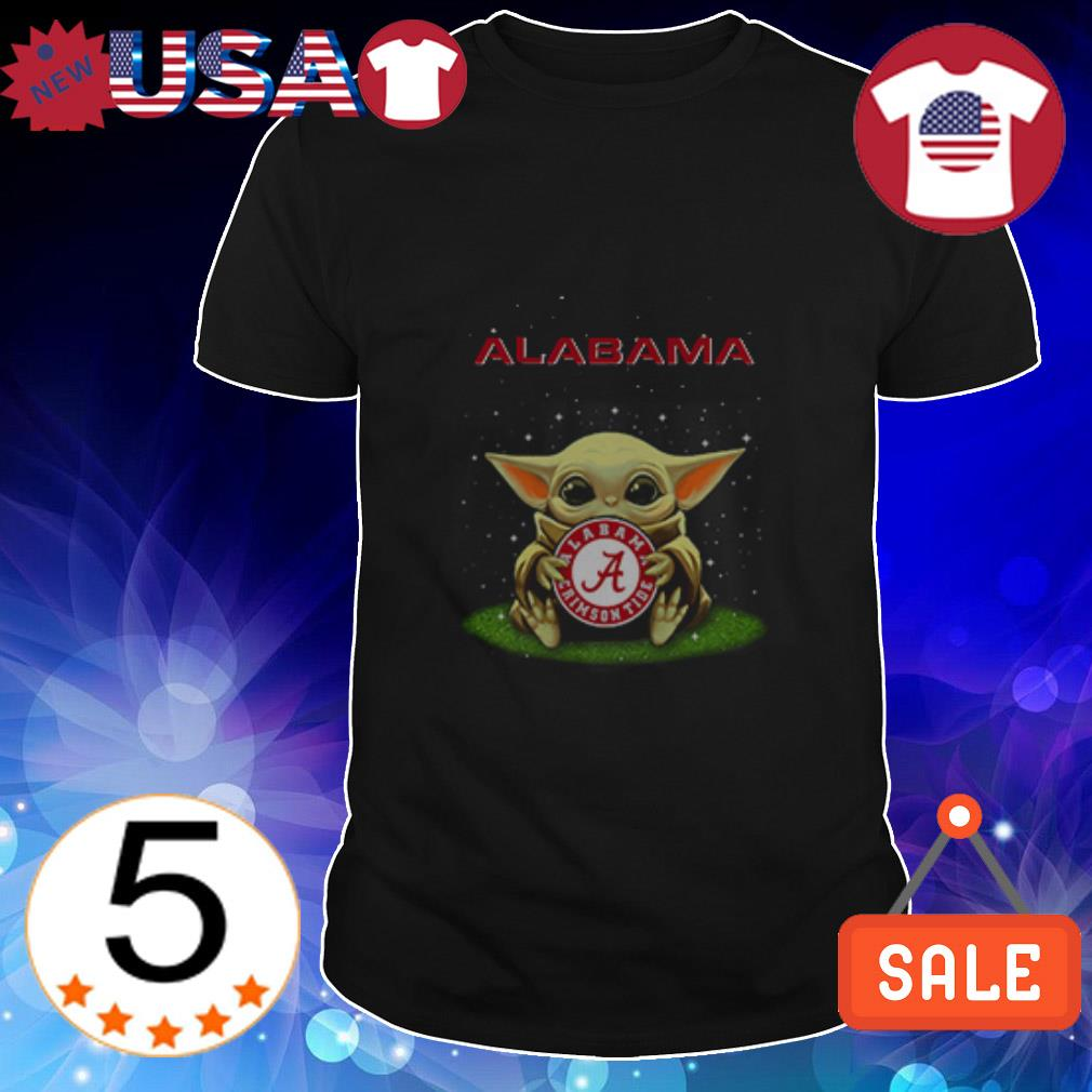 Star Wars Baby Yoda hug Alabama Crimson Tide shirt
