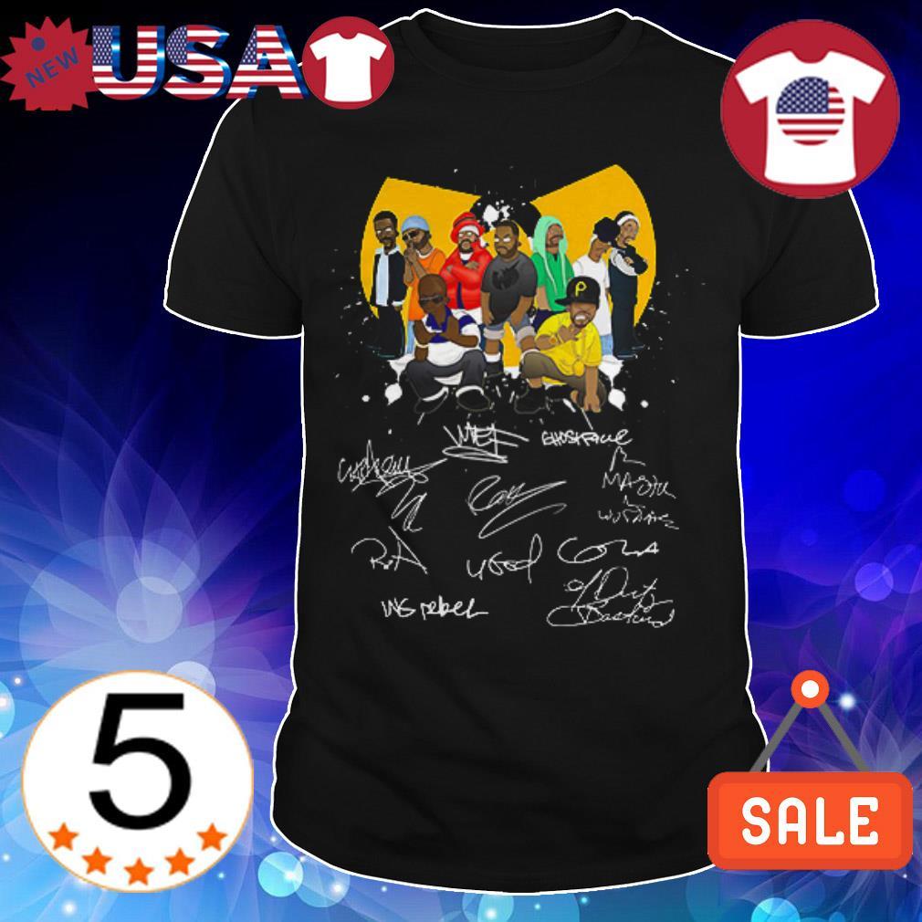 Wu Tang chibi characters signatures shirt