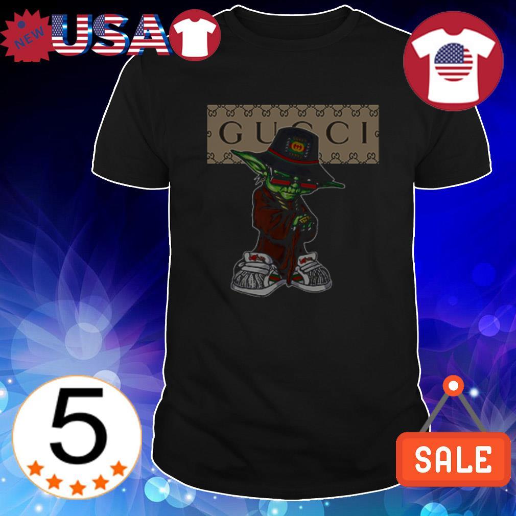 Star Wars Yoda wear Gucci shirt