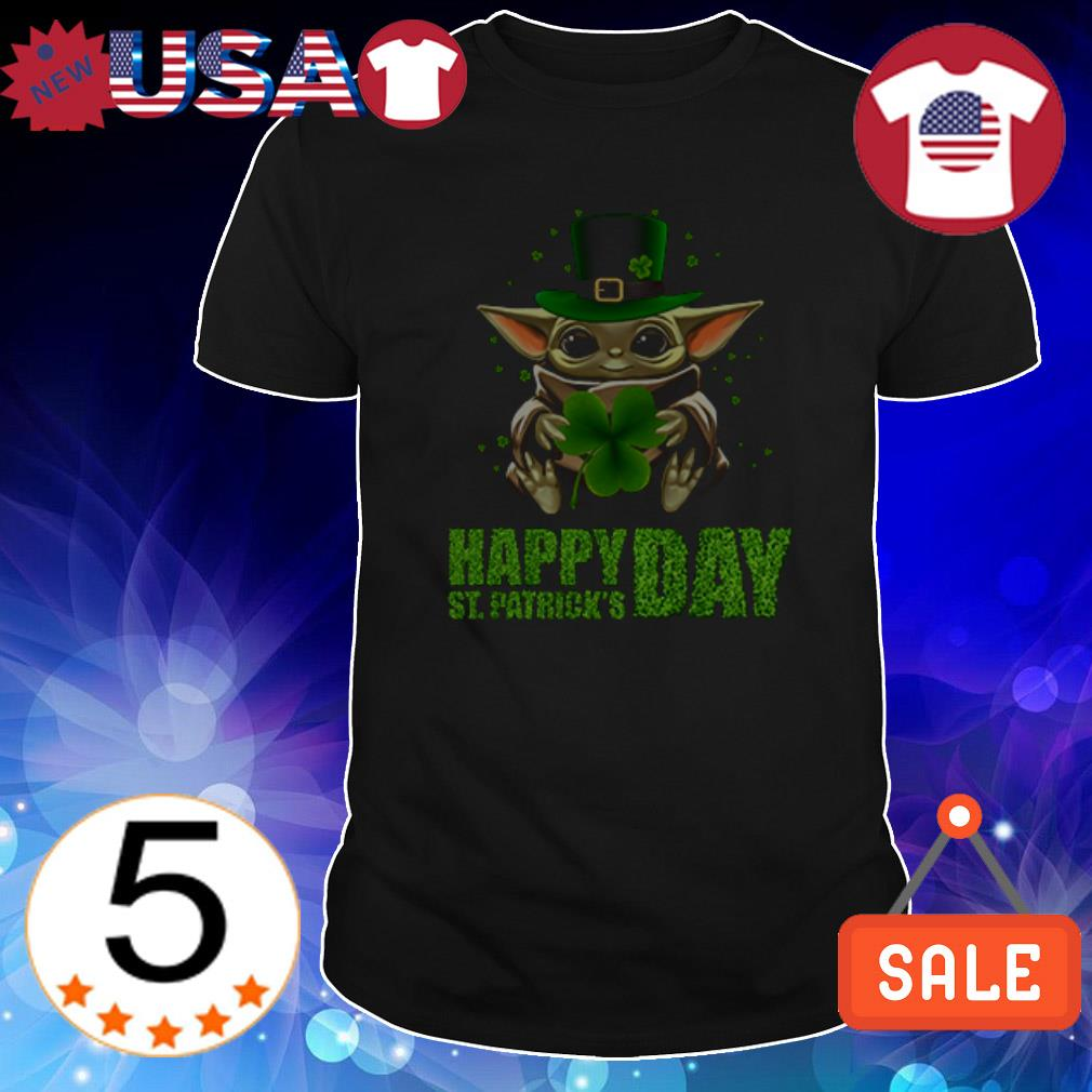Star Wars Baby Yoda hug Happy St Patrick Day shirt