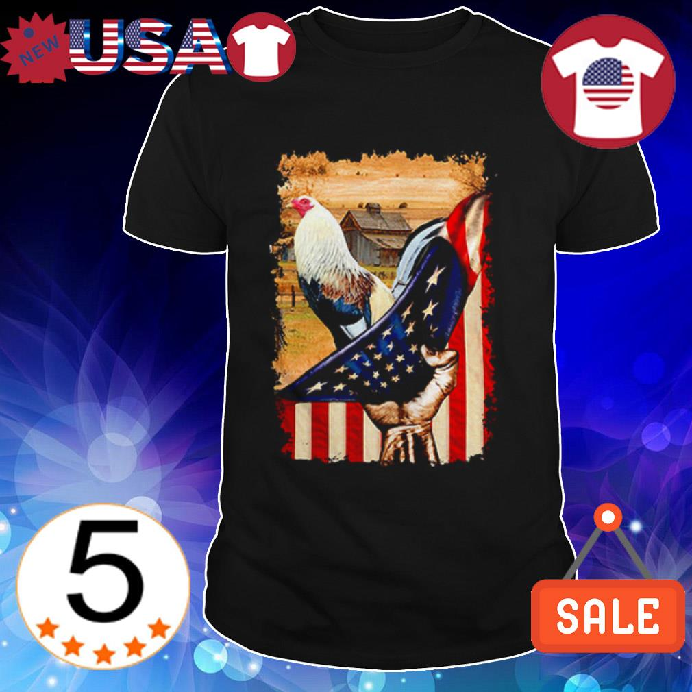 4th of july independence day Rooster American Flag shirt