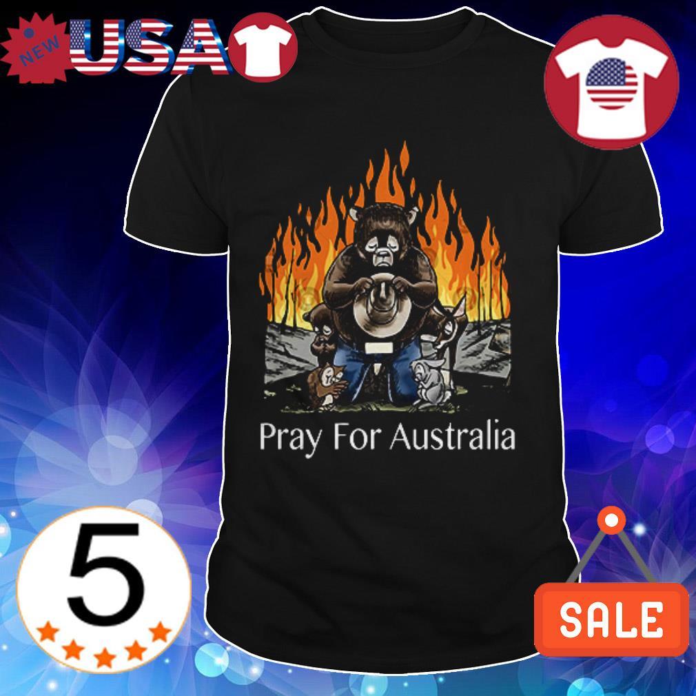 Bushfires Bears Animal People Pray for Australia shirt
