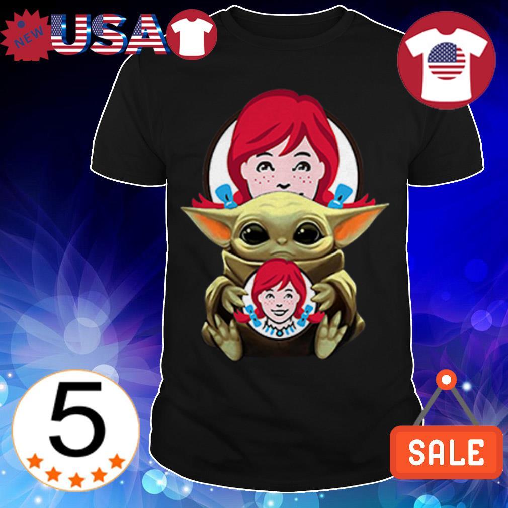 Star Wars Baby Yoda hug Wendy's shirt