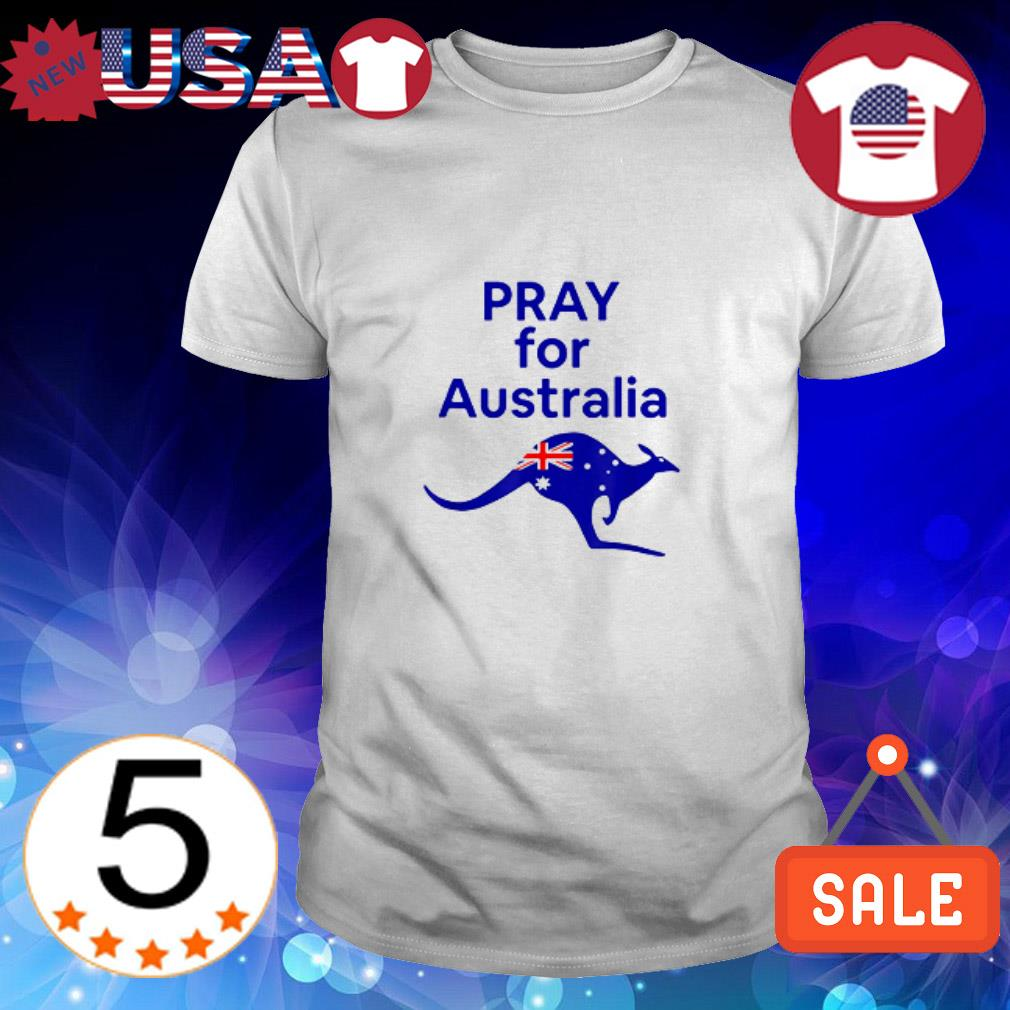 Kangaroo Pray For Australia shirt