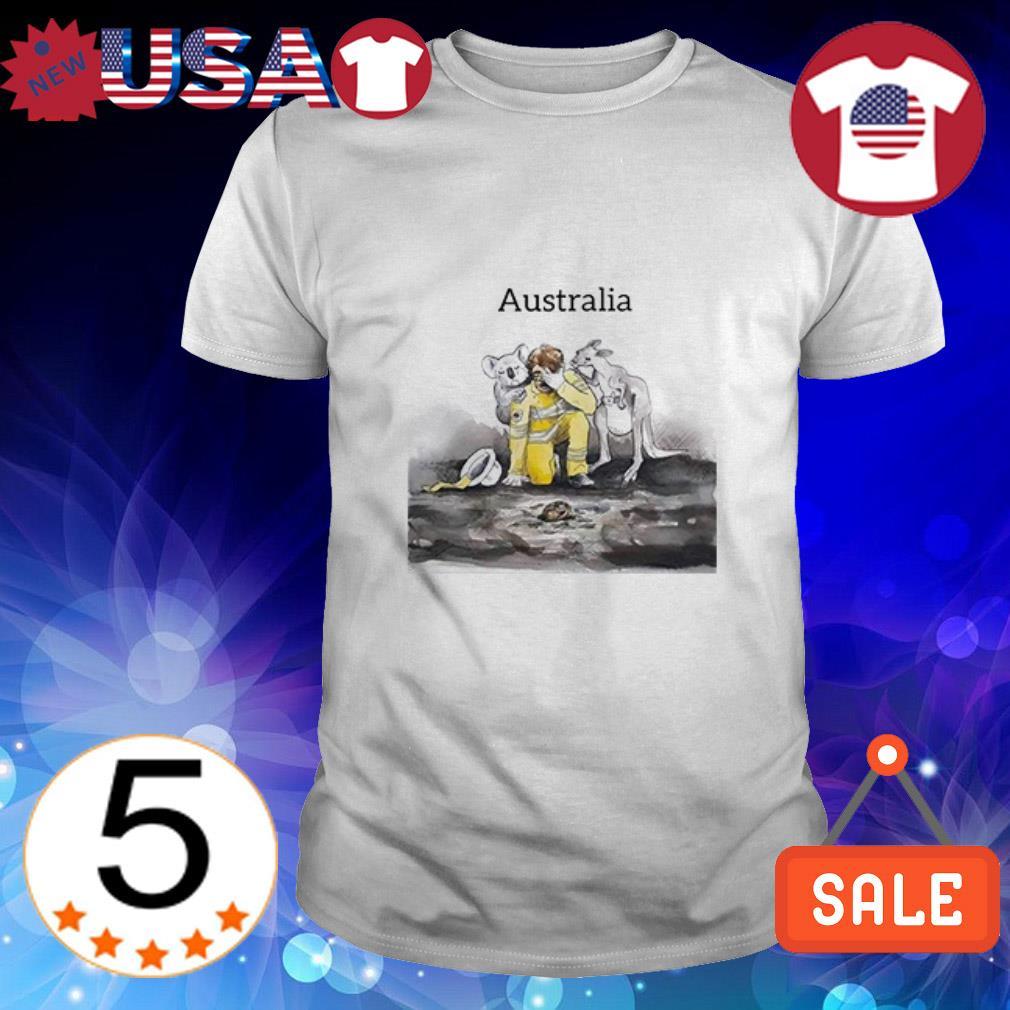 Koala Kangaroo and Firefighter Pray For Australia shirt