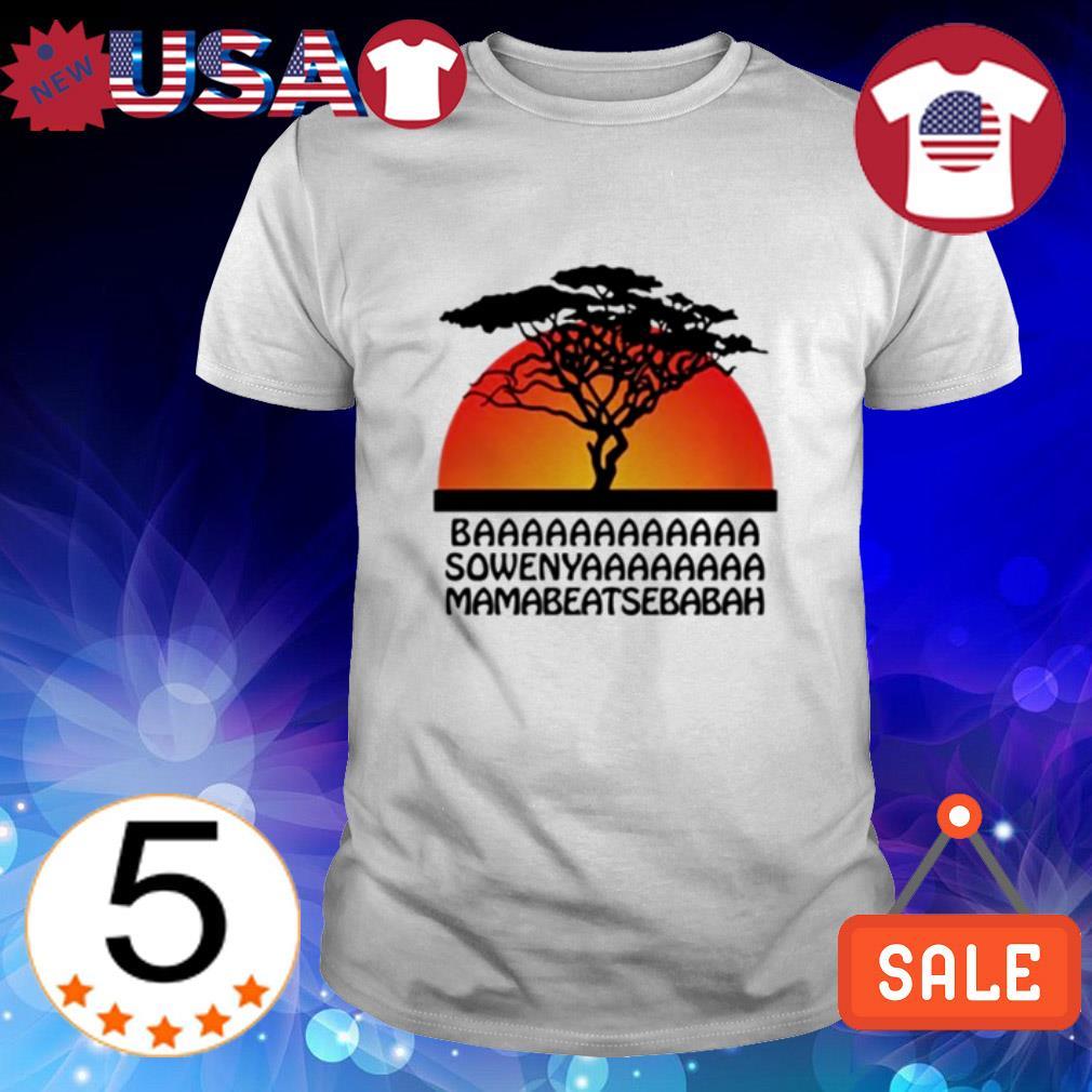 Baaa Sowenya Mamabeatsebabah sunset shirt
