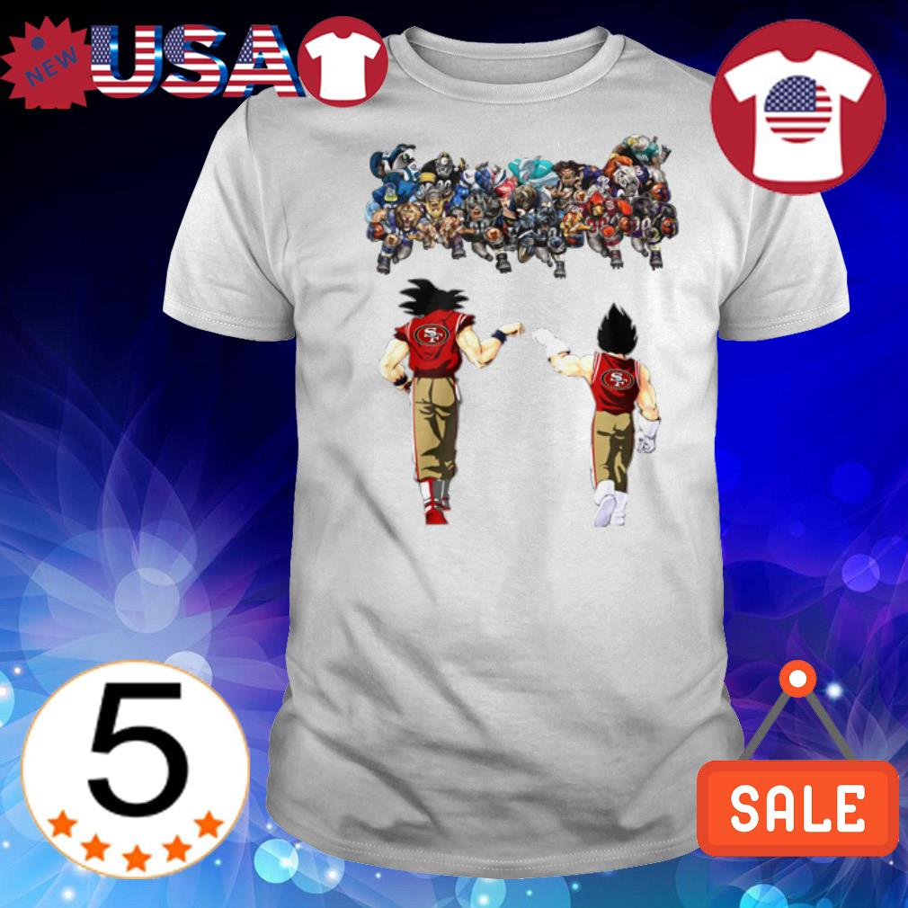 Dragon Ball Goku and Vegeta San Francisco 49ers shirt