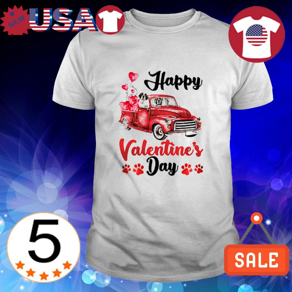 St Bernard Happy Valentine's Day shirt