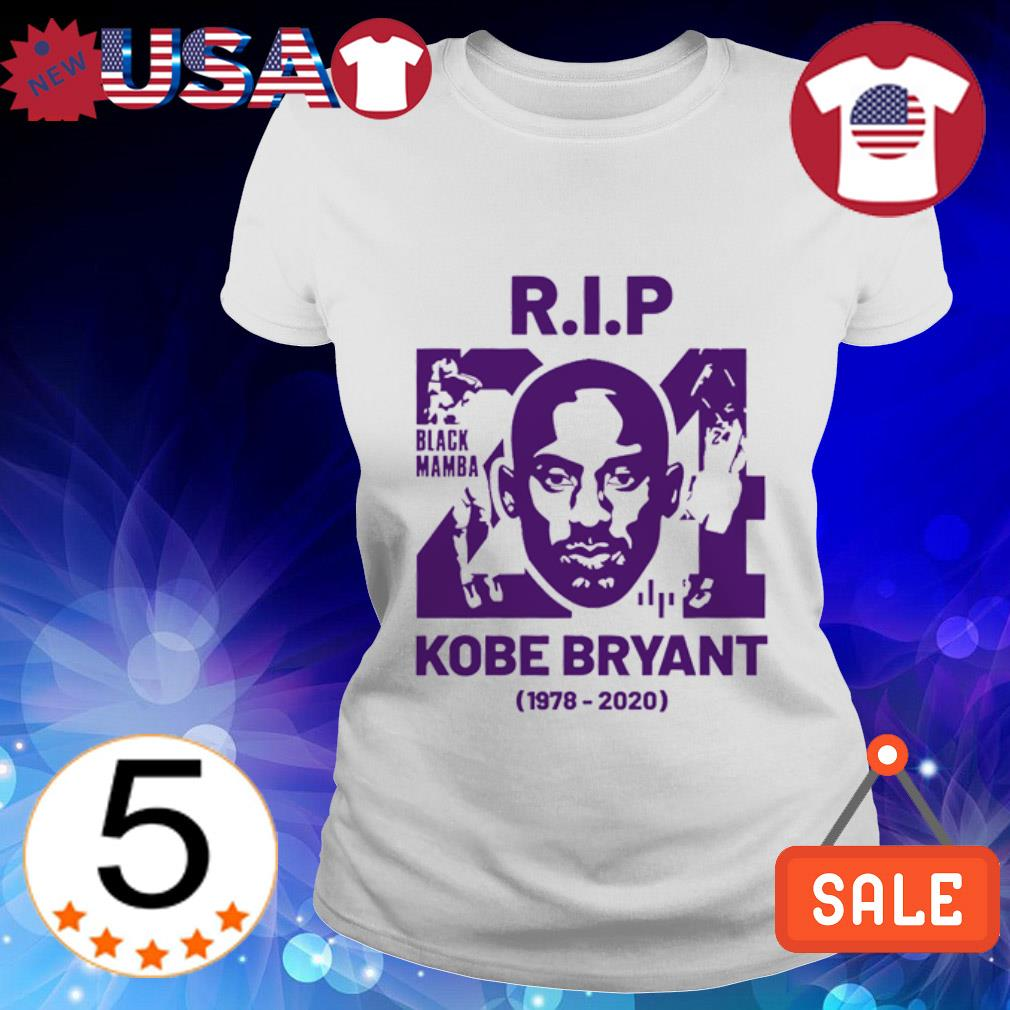 Rip Kobe Bryant Black Mamba 1978-2020 Ladies Tee