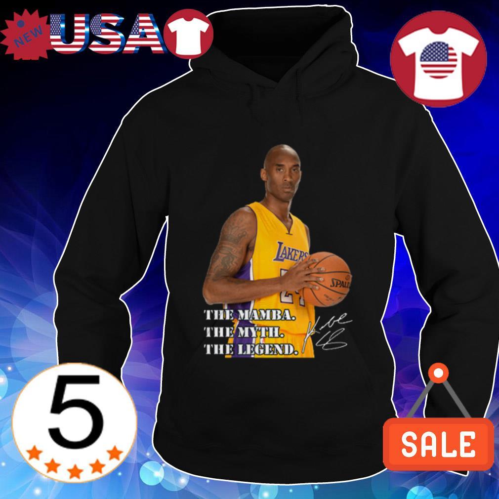 Rip Kobe Bryant Los Angeles Lakers The Mamba the myth the legend signature Hoodie